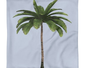 Palm Tree Square Pillow Case only
