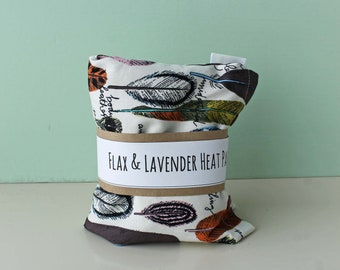 Flax and Lavender Heat Packs, Hot or Cold Therapy, Natural Healing