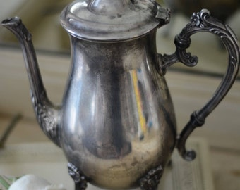 Ornate Vintage Silver Plated Tea Pot