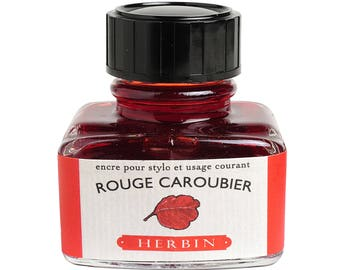 "J. Herbin Fountain Pen Ink ""D"" - Rouge Caroubier (Red Carob Tree)"