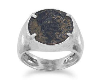 Roman Coin Ring | Ancient Roman Coin Ring | Coin Ring | Silver Ring | Statement Ring | Roman Coin
