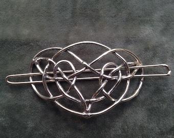 Oval Celtic Knot Barrette