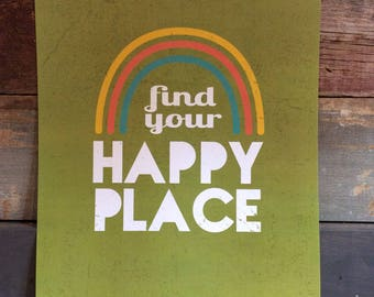 Find Your Happy Place Poster