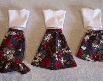 Plus Size Barbie Outfits, Florals - Handmade