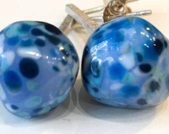 Lampwork glass earrings Duduos Confetti