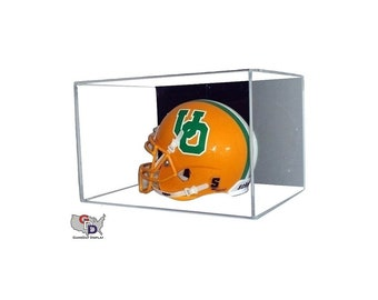 Acrylic Wall Mount Mini Helmet Display Case UV Holder NFL NCAA Football