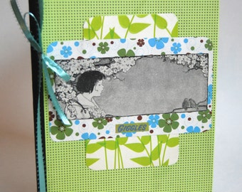 Notebook, Journal, Nature, Child, Spring