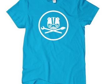 Women's Workshop Tee - S M L XL 2x - Ladies' Teddy T-shirt - Veggiesomething - 4 Colors