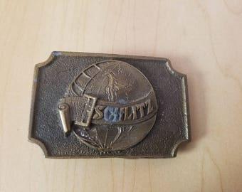 Vintage Solid Brass Belt Buckle