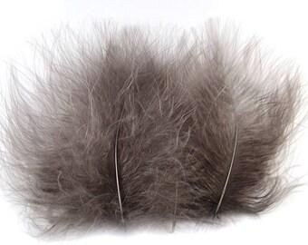 Marabou Feathers Grey 12110
