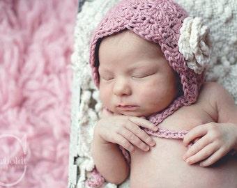 Baby Bonnet.Vintage baby bonnet.Newborn Bonnet,Photo Prop.Baby shower Gift