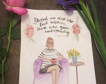 Christian art , encouragement, inspirational art for women, wisdom