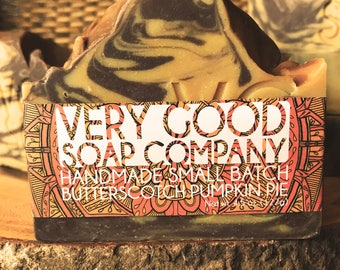 Butterscotch Pumpkin Pie Soap // Cold Process Soap // Shea Butter Soap // Fall Autumn Winter // Limited Edition