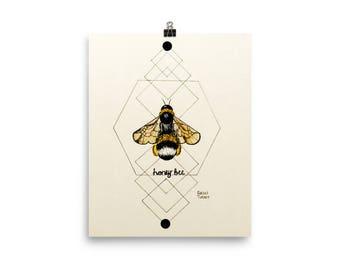 PRINT Honey Bee