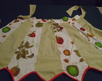 1960's Fruit Motif Cotton Half Apron