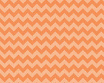 Orange tone on tone Small Chevron Cotton Fabric in Yard 3/4 Half and 1/4  by Riley Blake for Quilting/ Sewing/ Embroidery/ Applique/ Crafts