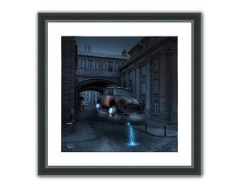 Statuesque - Surreal Conceptual Fantasy Sci-Fi 3D Digital Poster, or Fine Art Print