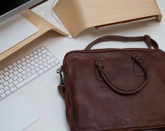 Nomy D - Leather laptop bag / MacBook Pro / Air 13 inch handmade