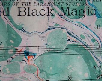A Magical Piece- Hand marbled sheet music