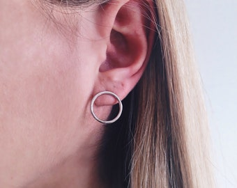 hoop earrings,sterling silver earrings,small hoop earrings,circle earrings,simple earrings,minimalist earrings,geometric earrings
