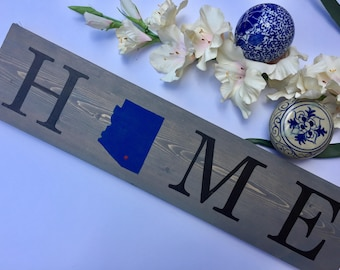 Home State Sign // Custom Home Sign // Home //