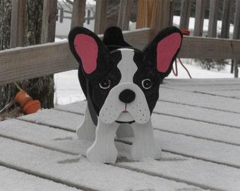 "Boston Terrier, ""Buster"" planter box."