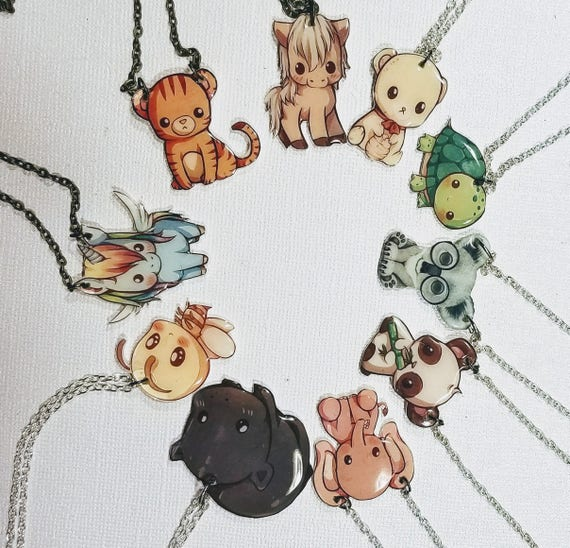 Cute Animals - Choose your whimsical statement necklace.