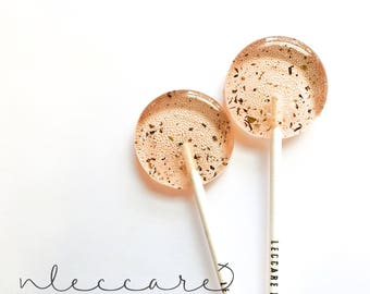 Strawberry Mojito // Cocktail Lollipops // Spring Wedding Favor // Summer Wedding // Favors for Guest // Leccare Lollipops // 12 count