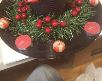 Vinyl Record Christmas Decoration