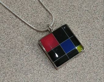 Montessori necklace, Trinomial cube necklace, Montessori jewelry, Trinomial jewelry