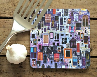 Potstand 'Tequila Sunrise' print. Kitchen accessory and worktop protector.