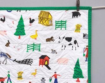 Vintage Farm Whole Cloth Baby Quilt