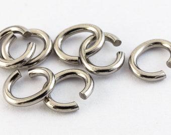 3.5mm x 5mm Titanium Oval Jump Ring #TIB015