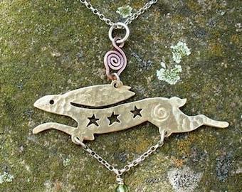 Celestial Hare Pendant Jewellery SquareHare UK Free Shipping Vegan celtic druid albion wildlife woodland handfasting birthday gift beauty