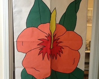 Hibiscus Flower Large Decorative Flag