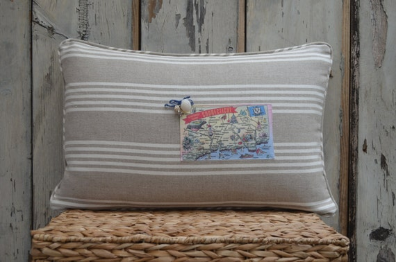Connecticut Postcard Pillow  (available in 3 styles and 2 prices)