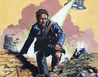 DOCTOR WHO - The Eighth Doctor ~ Dalek War  A4 Art Print (29.7 x 21cm)