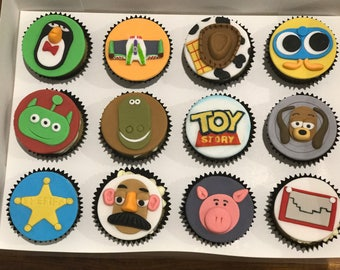 12x Edible Toy Story cake toppers