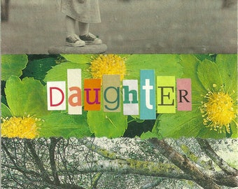 Daughter art tile. Coaster. Contemporary. Mother's Day gift.