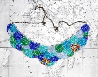 REDUCED- Ocean Statement Bib Necklace