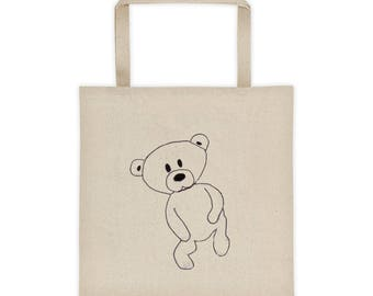 Baby Bear Teddy Bear Tote Bag