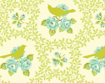 Up Parasol - Chartreuse Mockingbird by Heather Bailey from Free Spirit Fabric