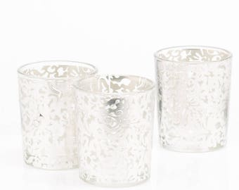 Silver Lace Votive Holder Set of 12 for Sofreh Aghd