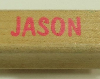 Jason Wood Mounted Rubber Stamp
