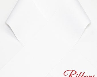 """WHITE - 3"""" Grosgrain Ribbon  - 100% Polyester - Ribbon by the yard - Made in USA - Ideal for Cheer Bows 3 inch grosgrain"""
