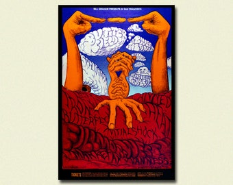 Fillmore Festival Print 1968 - Vintage Music Print Rock Poster Festival Poster Vintage Music Fillmore Poster Birthday Gift Idea