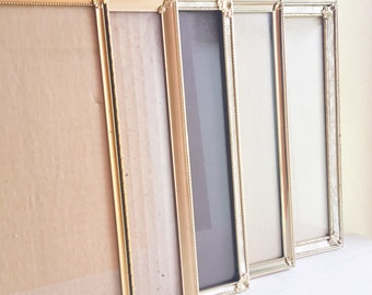 Set of 8x10 Unique Filigree Corner Gold Metal Picture Frames 5 Count