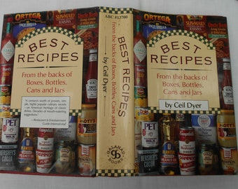 1982 Best Recipes From the backs of Boxes, Bottles ,Cans and Jars by Ceil Dyer