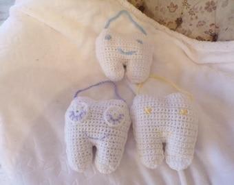 Handmade Crochet Tooth Fairy Pillows