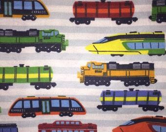 Toddler Blanket & Pillow - Trains
